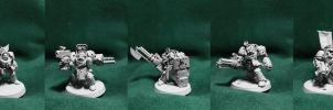 Gabriel Seth in terminator armor and command squad by Severemis