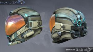 Halo 4: Strider helmet by profchaos354