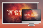 Giving Thanks Church Slide PSD by loswl