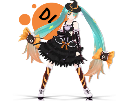 YYB Candy Witch Miku + DL by Darkivralii666