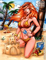 Spring Break Firestar commissi by gb2k