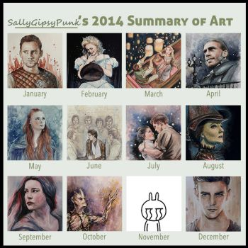 Summary of Art 2014 by SallyGipsyPunk