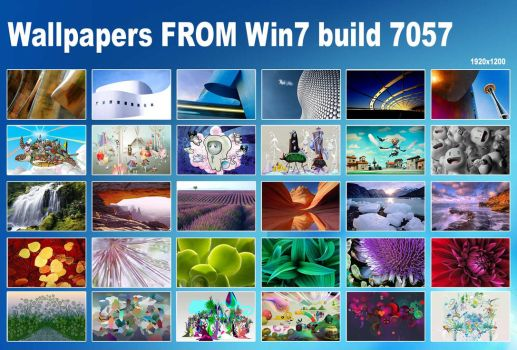 Wallpapers FROM Win7 build7057 by AlveR-spb