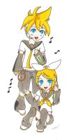 Rin and Len by Aimi-Sora