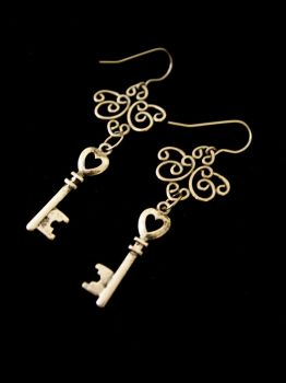 Keys to My Heart Earrings by TheJugulateJeweler