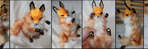 OOAK Red Fox Artist Doll by TotemEye
