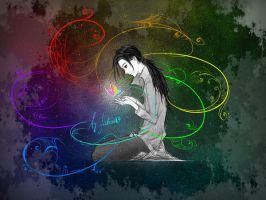 Rainbow in my hands by Fiction69
