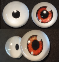 4cm 3D character eyes by DreamVisionCreations