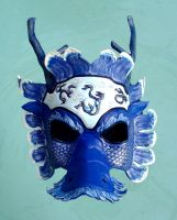 Chinese Water Dragon Mask by b3designsllc
