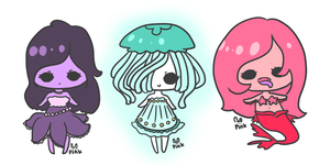 under the sea adopts (closed) by pinkbunnii