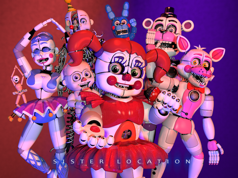 [C4d] Sister Location -Poster- by LuckyRabbit31