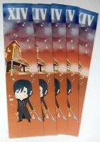 Kingdom hearts Xion bookmark by knil-maloon