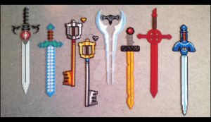 Beads - Swords Collection by Oggey-Boggey-Man