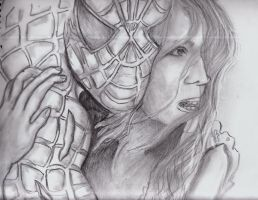 Spiderman and Mary Jane by SeleanRidley