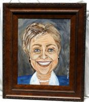 Caricature of Hillary Clinton by ThisArtToBeYours