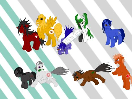 My Little Akatsuki Ponies by Shebby2007