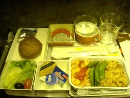 breakfast on the plane by plainordinary1