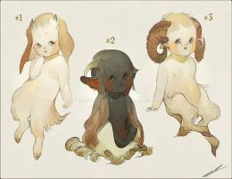 Adoptables - Fauns (Closed) by WhiteFoxCub