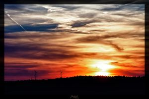 Burning sky by deaconfrost78