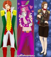 Ace Attorney Bookmarks by sorjei