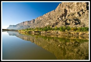 Rio Grande reflection by justfrog