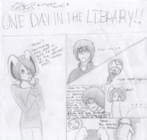 One day in the library! by DapperDeku