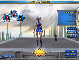 V-Crystal in champions online by V1EWT1FUL