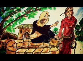 Jesus and the woman at the Well. John chapter 4 by Markemarksk8