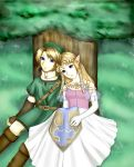 Peaceful Bliss-LinkxZelda by ChibiRed