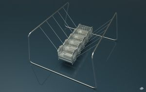 Newton's cradle - 1 by Ingostan