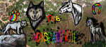 the horse and wolf logo by lipazzaner