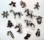 1 Dozen Gingerbread Cookie Ornaments by MalaCembra