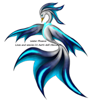 Glowing Blue Water Phoenix Adopt CLOSED by aerti-doll