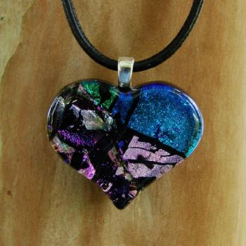 Heart Collage Fused Glass by FusedElegance