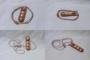 Linear Copper Pendant by ACrowsCollection