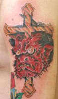Oni with Cross by Steve-Rieck