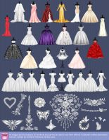 Dresses for the Wedding Street by lanitta