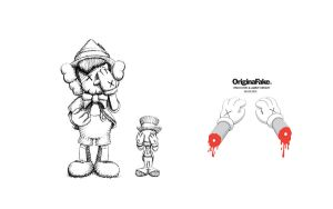 Pinocchio Kaws Wallpaper by MaskedMouchacho