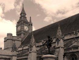 Cromwell and Big Ben by UdoChristmann