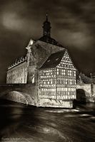 Old Town Hall At Night by yiria