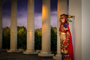 Alexstrasza at Wyrmrest Temple by Kiotoko-Solo
