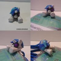 DJ Pon3/Vinyl Scratch Badge Clip by ChibiSilverWings