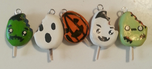 Halloween Popsicles by p0lymerqueen