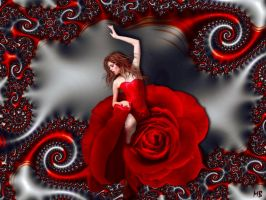 Red Rose Lady by marijeberting