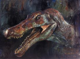Study of JP3 Spinosaurus Head by cheungchungtat