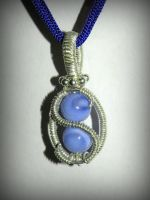 Chalcedony and Sterling silver pendant by marsvar