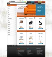 Furniture Commerce Web Design by lKaos
