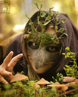 Mossy Mask n Mushrooms by Nymla