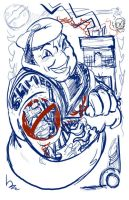 STay Puft Tattooed WIP by mannycartoon