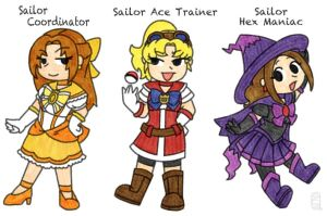 Sailor Poke-Trainers by MuseWhimsy